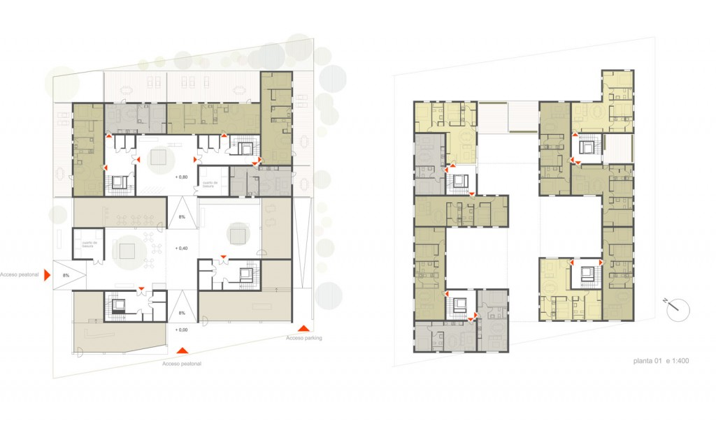 Terraces social housing competition for Living room channel 10 competition