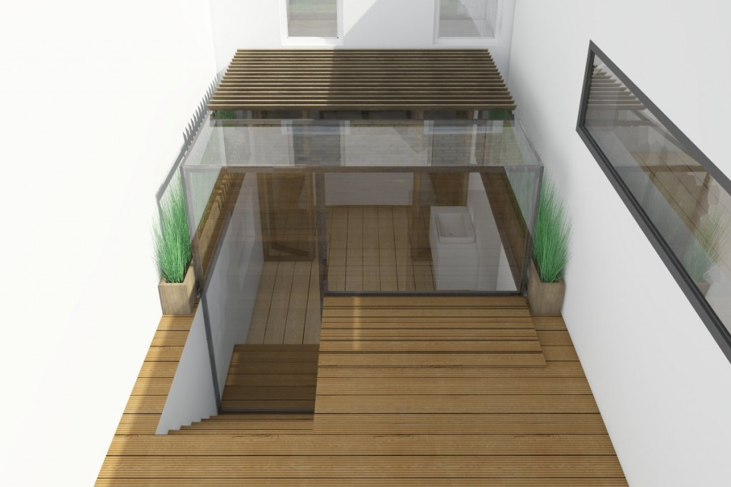 Residential extension in a glass cube in hackney london for Extension cube