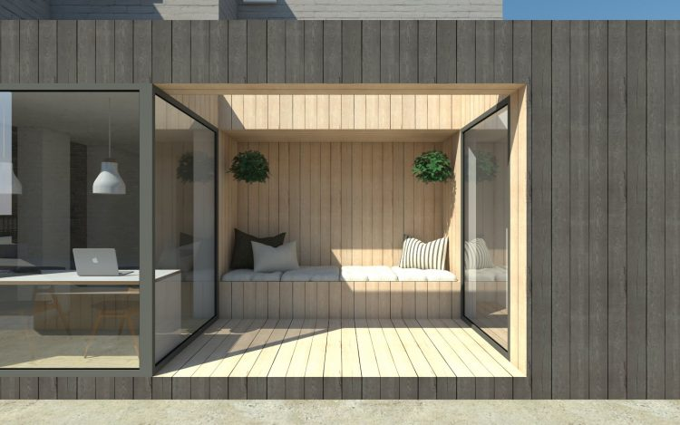 Blackened Timber Extension, London
